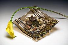 Bronze Ikebana by Alicia Kelemen (Art Glass Vessel)