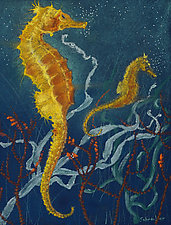 Seahorses by Sherry Schreiber (Giclee Print)