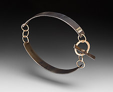 Toggle Bracelet by Peg Fetter (Gold & Steel Bracelet)
