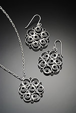 Fizzy Pendant and Earrings by Jennifer Chin (Silver Jewelry)
