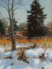 Winter Wamth in SantaFe by Robert Kuester (Oil Painting)