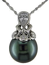 Pearl Pendant by Karina Mattei (Gold, Stone & Pearl Pendant)