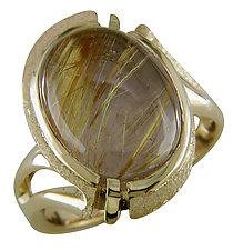 Gold and Quartz Ring by Karina Mattei (Gold & Stone Ring)