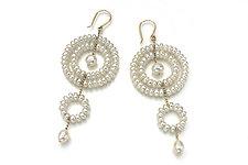 Circle Drop Earrings by Estyn Hulbert (Pearl Earrings)