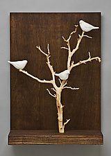 Birds in Trees - Small by Chris  Stiles (Ceramic & Wood Wall Art)