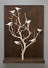 Birds in Trees - Medium by Chris  Stiles (Ceramic & Wood Wall Art)