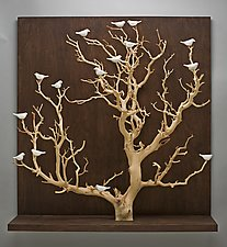 Birds in Trees - Large by Chris  Stiles (Ceramic & Wood Wall Art)