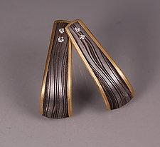 J Earrings by Victoria Moore (Gold, Diamond, & Steel Earrings)
