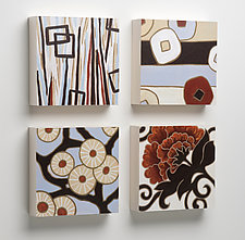 Arya, Lu, Lynne, Hilary Wood Tiles for the Wall by Karen Deans (Pigment Print on Wood)