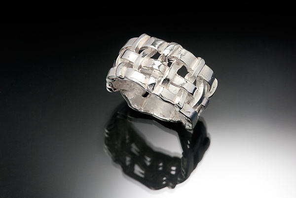 Chunky Woven Basket Ring