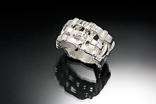 Chunky Woven Basket Ring by Chi Cheng Lee (Silver Ring)