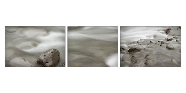 Triptych of Flowing River 1