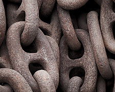 Rusty Mooring Chain #3 by Steven Keller (Color Photograph)