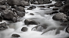 Icicle Creek Rapids No. 1 by Steven Keller (Black & White Photograph)