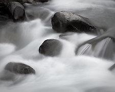 Icicle Creek Rapids No. 2 by Steven Keller (Black & White Photograph)