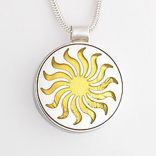 Sunflower Pendant by Victoria Varga (Gold & Silver Necklace)