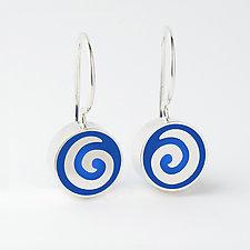 Mini Swirl Earrings by Victoria Varga (Silver & Resin Earrings)