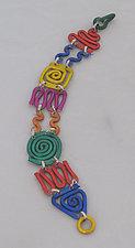 Scribble Bracelet by Sylvi Harwin (Aluminum Bracelet)
