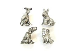 Sitting Dog Knobs by Rosalie Sherman (Metal Knob)