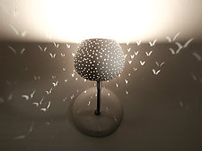 Claylight Egg Sconce by Sharan Elran, Yael Erel, and Avner Ben Natan (Ceramic Sconce)