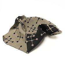 Draped Eames Bowl in Black by Josh Urso (Fiber Bowl)