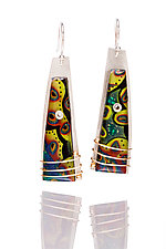 Cooper Earrings by Sue Savage (Silver & Polymer Clay Earrings)