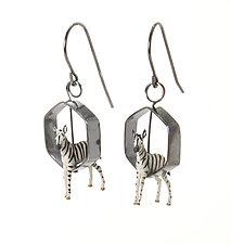 Baby Zebra Earrings by Kristin Lora (Silver Earrings)