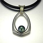 Meghan Pendant by Britt Anderson (Gold & Pearl Pendant)