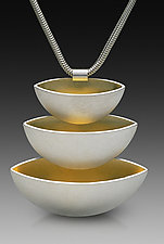 Three Gold Bowls Pendant by Thea Izzi (Silver & Gold Pendant)