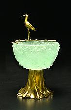 Nest Bowl by Georgia Pozycinski and Joseph Pozycinski (Art Glass & Bronze Sculpture)