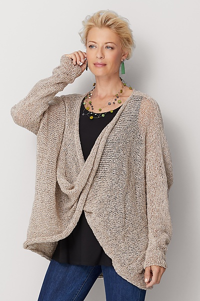 Long Sleeve Twist Front Sweater