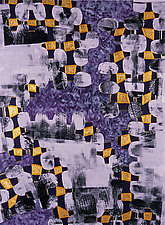 Holes in the Fences 3 by Jeanne Williamson (Mixed-Media Painting)