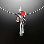 Cubeberry Pendant by Aleksandra Vali (Silver & Stone Necklace)