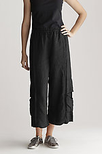 Double Stitched Cropped Linen Pant by Cynthia Ashby  (Linen Pant)
