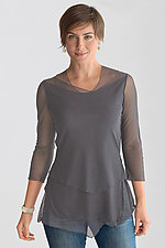 Layered Mesh Tunic by Cynthia Ashby  (Knit Top)