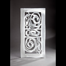 Spiral Wall Tile by Cherie Haney (Metal Wall Sculpture)