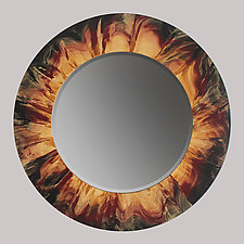 Eclipse Mirror by Ingela Noren and Daniel  Grant (Painted Wood Mirror)