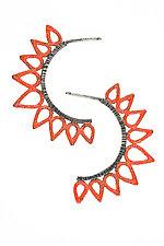 Half Sun Earrings by Analya Cespedes (Silver Earrings)