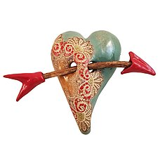 Secret Valentine by Laurie Pollpeter Eskenazi (Ceramic Wall Sculpture)