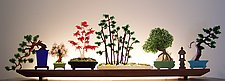 Bonsai by Bernie Huebner and Lucie Boucher (Art Glass Sculpture)