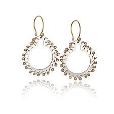 Sprocket Drop Earrings by Gillian Batcher (Silver & Pearl Earrings)