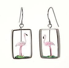 Flamingo Earrings by Kristin Lora (Silver Earrings)