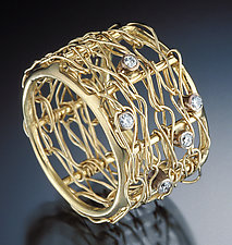 Cressida Ring by Randi Chervitz (Diamond & Gold Ring)