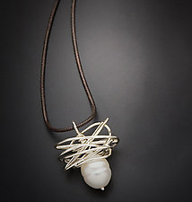 Pearl in a Nest Pendant by Randi Chervitz (Silver & Pearl Necklace)