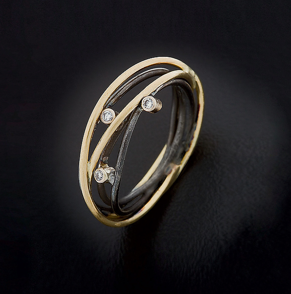 Wrap Ring with Three Diamonds