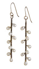Daphne Earrings by Randi Chervitz (Silver & Pearl Earrings)