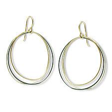 Triple Mayline Hoop Earring by Alice Roche (Gold & Silver Earrings)