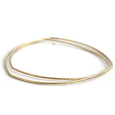 Triangle Water Bangles by Alice Roche (Gold Bracelet)