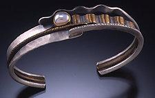 River Landscape Bracelet by Connie Ulrich (Gold, Silver, & Pearl Bracelet)