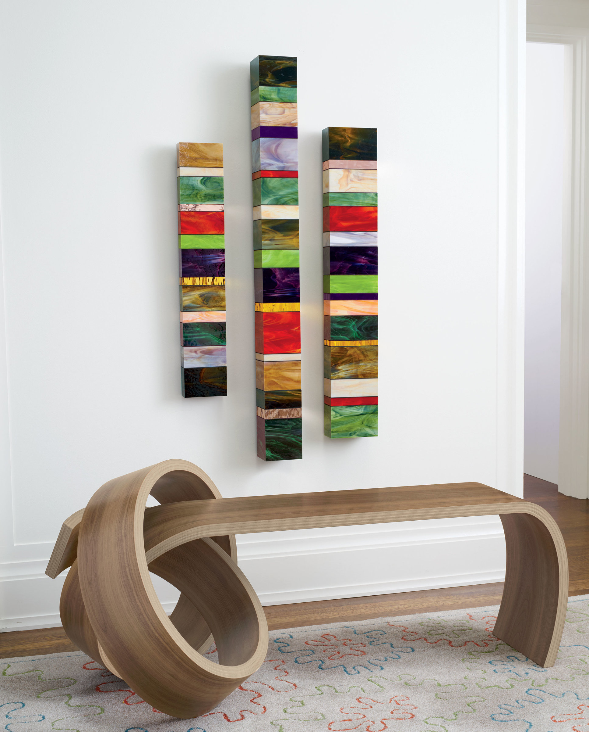 Marvelous photograph of Why Knot Bench by Kino Guerin (Wood Bench) Artful Home with #AF1C1E color and 1934x2400 pixels